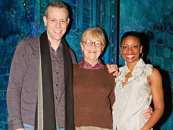 Broadway-Bound Estelle Parsons Shows Adam Pascal & Montego Glover Big Love Backstage at Memphis