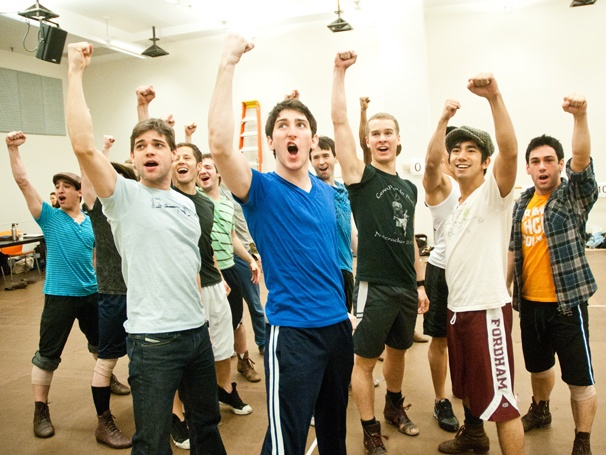 Photo Exclusive! Seize Your Chance to See Jeremy Jordan and the Newsies Cast in Rehearsal