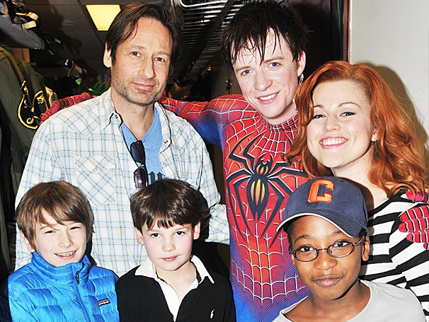 It's a Family Affair for David Duchovny & Son at Spider-Man, Turn Off the Dark