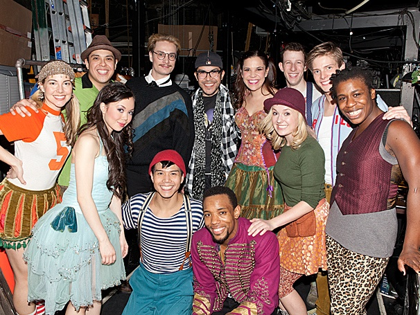 Project Runway All Stars Mondo Guerra & Austin Scarlett Make a Fashionable Visit to Godspell