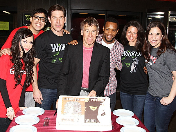 Happy Birthday, Stephen Schwartz! The Wicked & Godspell Composer Eats Cake with Hunter Parrish, Jackie Burns & More