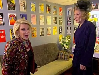 Check Out Joan Rivers and Tony Sheldon Trading Gossip at Priscilla Queen of the Desert