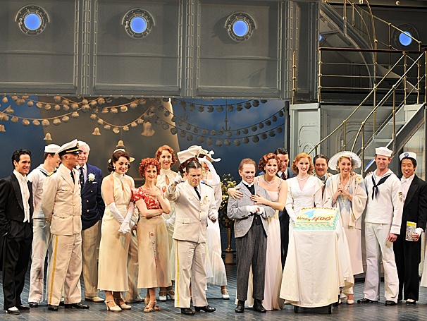 Stephanie J. Block and the Cast of Anything Goes Celebrate the Show's 400th Voyage