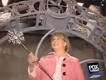 Watch It: Portland Radio Host Takes a Wicked Ride in Glinda's Bubble
