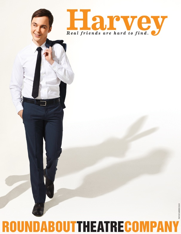 See The Big Bang Theory's Jim Parsons Dressed For Success in New Harvey Promo Poster
