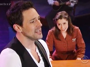 Watch Once Stars Steve Kazee and Cristin Milioti Charm David Letterman on The Late Show
