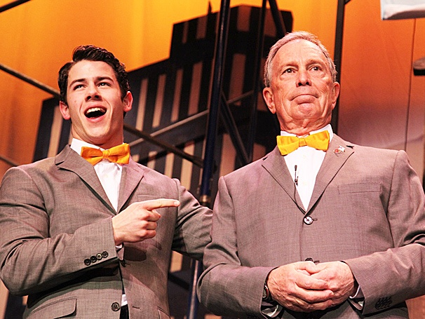 NYC Mayor Bloomberg Gives Nick Jonas a Lesson in How to Succeed at Inner Circle Talent Show