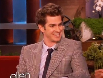  Death of a Salesman's Andrew Garfield Talks Bulking Up and Stripping Down for Spider-Man on Ellen