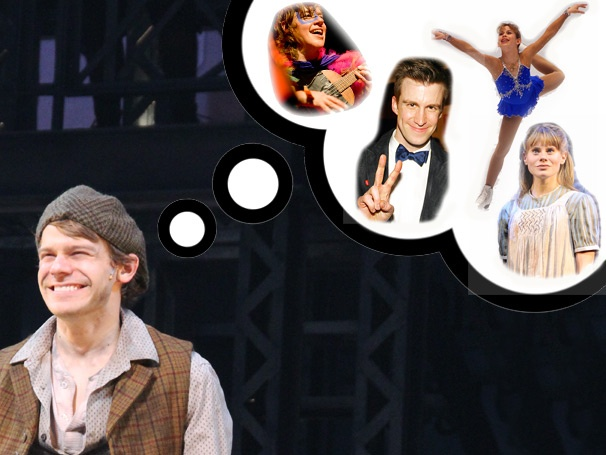 Newsies Star Andrew Keenan-Bolger Shares His Obsession With Showgirls, Tara Lipinski, Gavin Creel and His Sister Celia