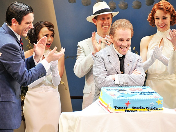 Happy Birthday, Moonface! Bernadette Peters Surprises Anything Goes Star Joel Grey on His 80th Birthday