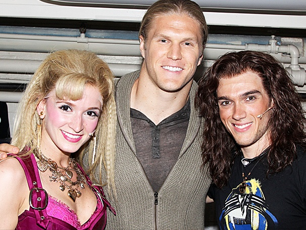 Green Bay Packers Linebacker Clay Matthews Pays a Headbanging Visit to Rock of Ages