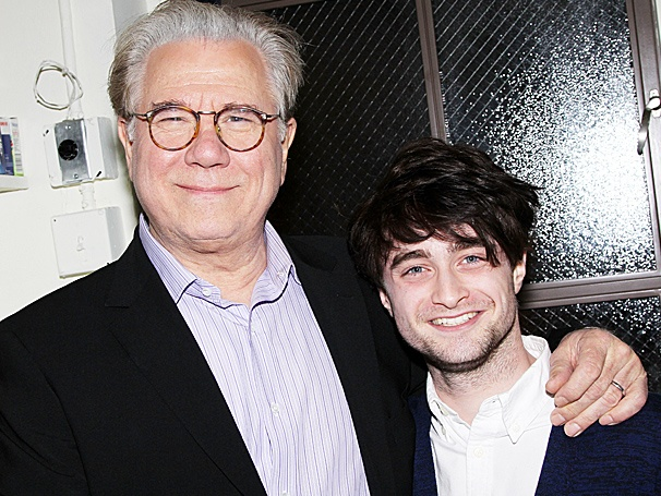 Brotherly Love! Daniel Radcliffe Visits His Former Boss John Larroquette at The Best Man