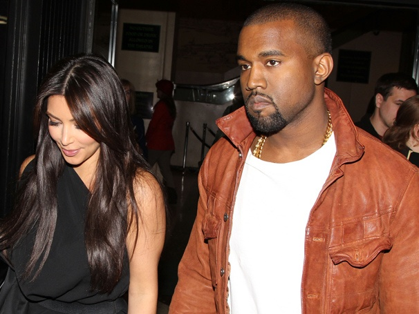 Kanye West & Kim Kardashian Get Wicked on a Broadway Date