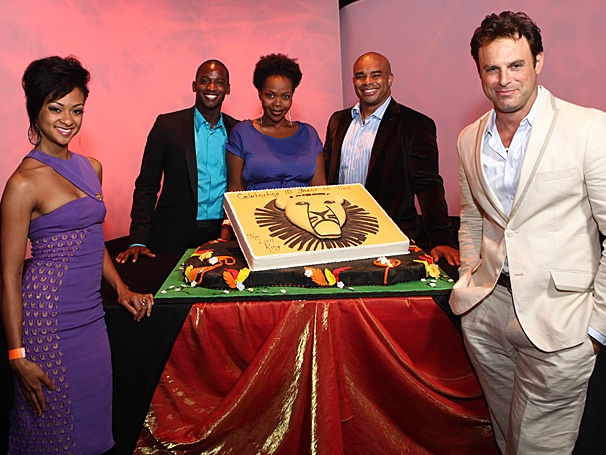 Hot Shot: The Lion King Tour Celebrates 10 Years on the Road with a Cake Fit for Royalty