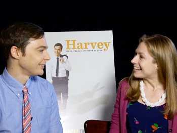 Watch The Big Bang Theory Star Jim Parsons Chat About His Invisible Friend in Harvey
