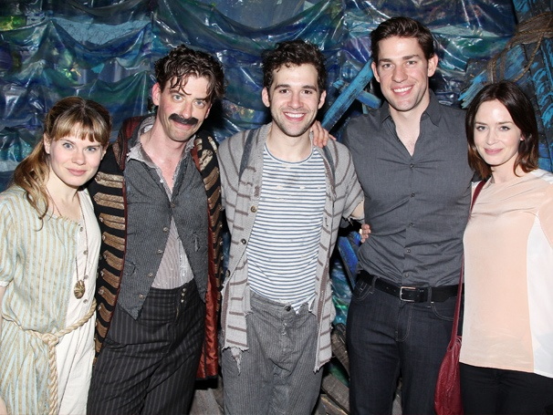 Land Ho! John Krasinski, Emily Blunt & More Voyage Backstage to Visit the Stars of Peter and the Starcatcher