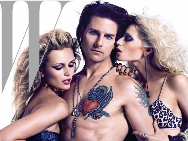 Tom Cruise Goes Topless and Tattooed as Rock God Stacee Jaxx in Rock of Ages Film