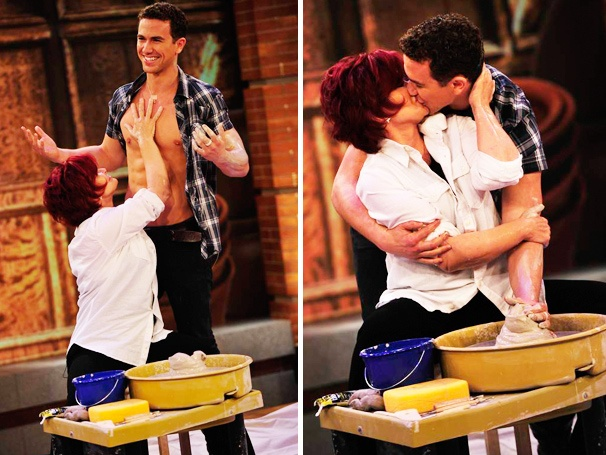 Sexy Pottery Time! Ghost Star Richard Fleeshman Gets Dirty with Sharon Osbourne on The Talk
