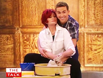 Sexy Pottery Time: Take Two! Watch Sharon Osbourne Smooch Ghost's Richard Fleeshman on The Talk
