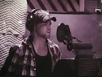 Check Out Jeremy Jordan and the Cast of Newsies in the Recording Studio