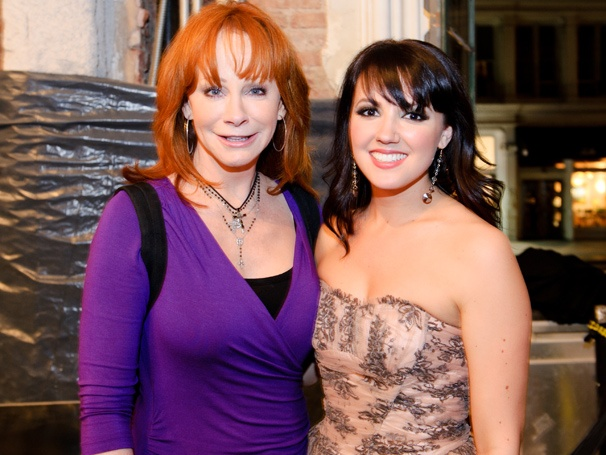 Country Legend Reba McEntire Drops In on Evitas Rachel Potter at Her Album Release Concert