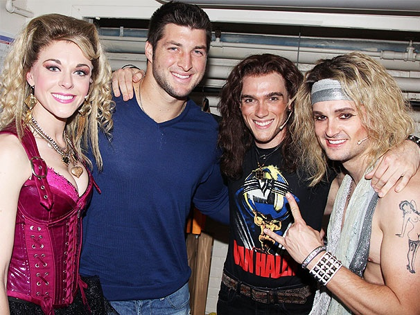 New York Jets Quarterback Tim Tebow & More Visit Rock of Ages