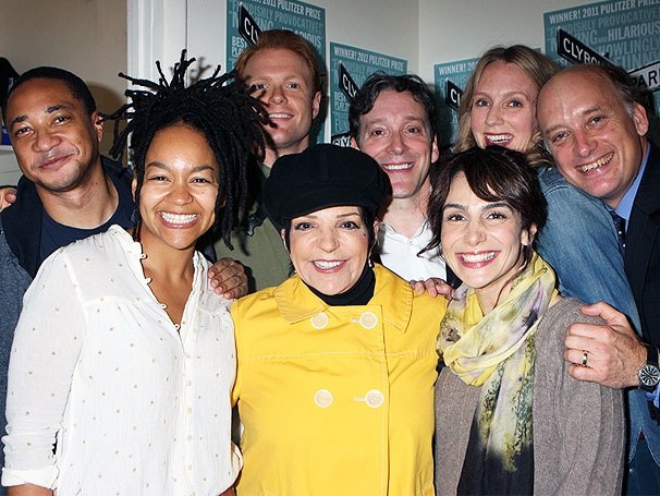 Dashing Diva Liza Minnelli Checks Out the Tony-Nominated Clybourne Park 