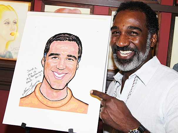 Porgy and Bess' Norm Lewis Brings His Signature Smile to the Wall at Sardi's