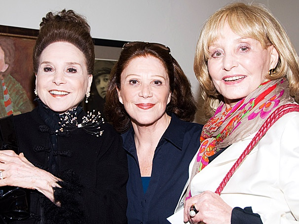 Here's to the Girls on the Go! Linda Lavin Welcomes Cindy Adams and Barbara Walters to The Lyons