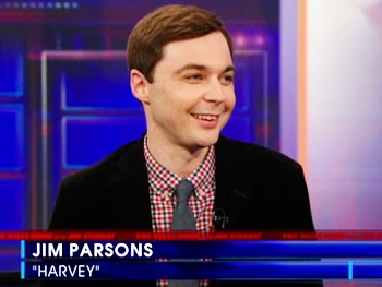Jim Parsons Talks Unemployment, Prosthetic Butts and His Harvey Pals on The Daily Show