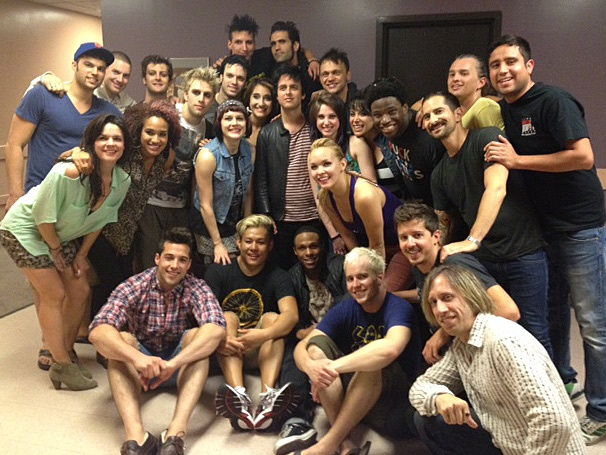 Green Day's Billie Joe Armstrong Visits the National Tour Cast of American Idiot