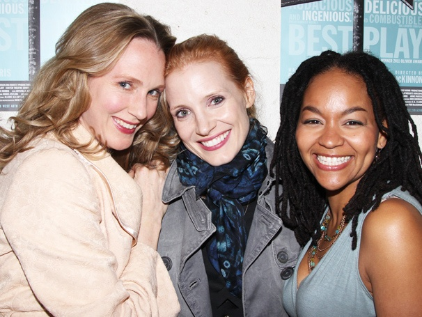 Broadway-Bound Stars Jessica Chastain & Katie Finneran Visit Clybourne Park