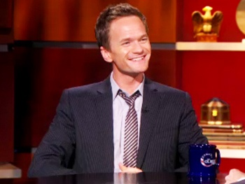 Watch Tony Host Neil Patrick Harris Dish on the 'Olympic Sport' of Broadway on The Colbert Report