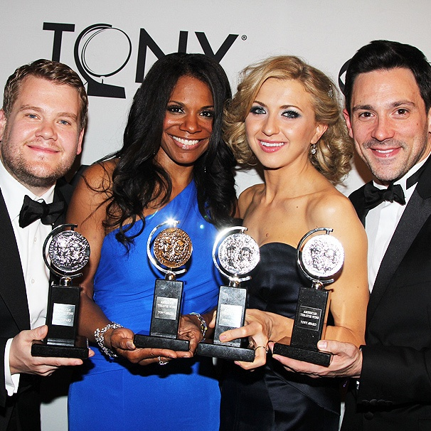 First Look at the 2012 Tony Awards' Big Winners: James Corden, Audra McDonald, Nina Arianda and Steve Kazee