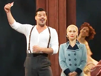 Ricky Martin, Elena Roger & the Cast of Evita Roll the Dice at the 2012 Tony Awards