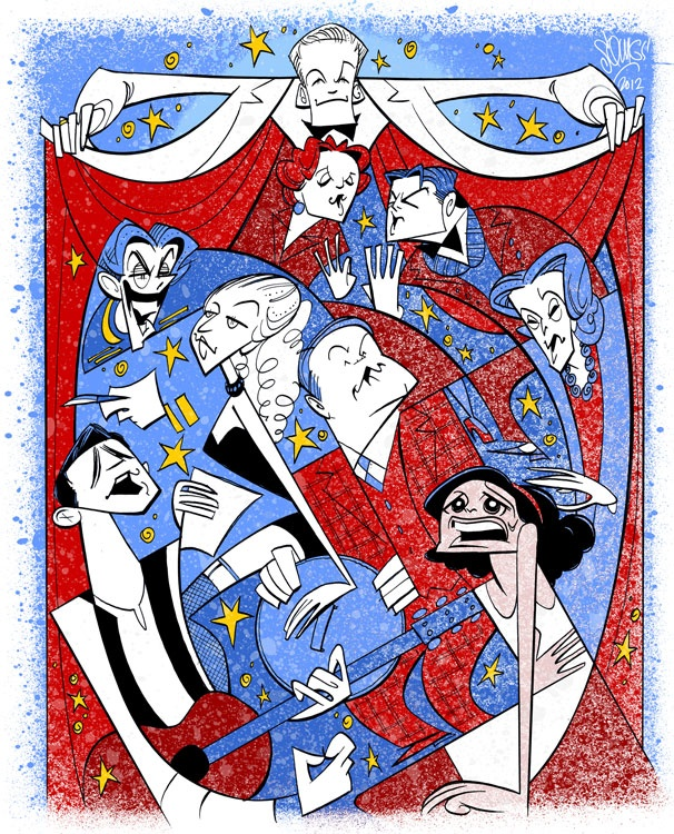 Squigs Pens a Special Portrait of Neil Patrick Harris and the 2012 Tony Award Winners