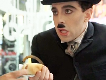 Chaplin Takes Manhattan! Charlie Orders a Hot Dog in New Broadway Promo