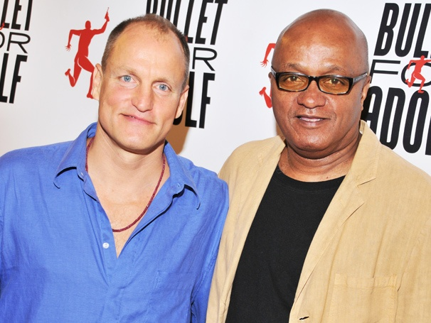 Stick 'Em Up! Woody Harrelson and the Cast of Bullet For Adolf Meet the Press