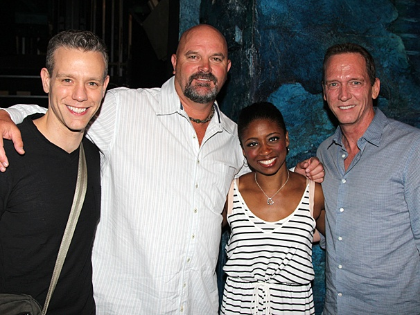 New York Yankee Greats David Wells and David Cone Take in the Grand Slam Musical Memphis