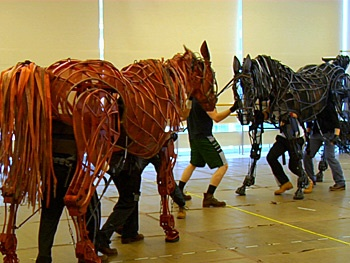 Watch the National Tour of the Tony-Winning Play War Horse Spring to Life in Rehearsal