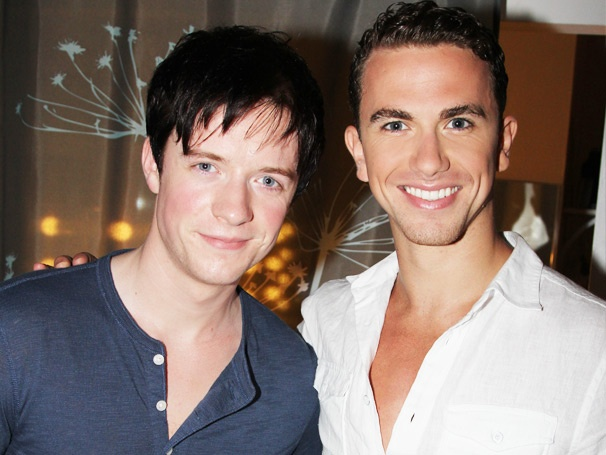 Spider-Mans Matthew James Thomas Pays a Visit to Pal Richard Fleeshman at Ghost