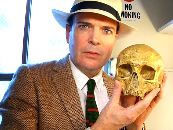 Skulls, Votive Heads & Honey Keep Jefferson Mays Entertained Backstage at The Best Man