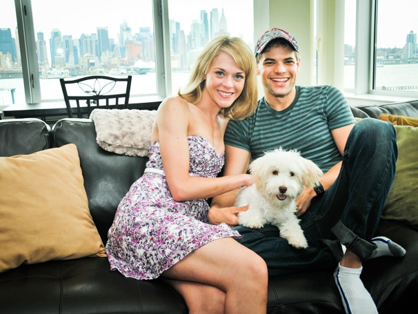 Newsies Headliner Jeremy Jordan & Rock of Ages Star Ashley Spencer's Pooch Adores Fireworks, People Watching & Panties