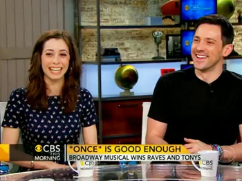 Once's Steve Kazee & Cristin Milioti Talk Fleeing Broadway for Stargazing Futures on CBS This Morning 