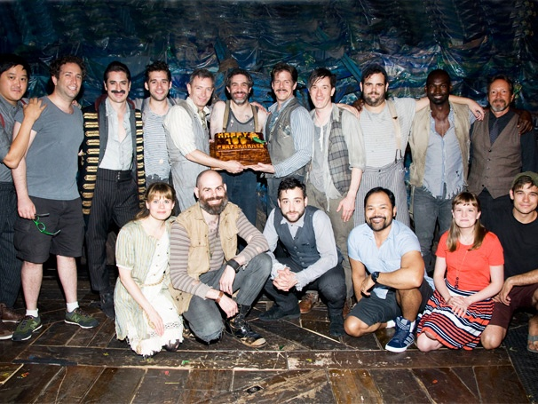 Adam Chanler-Berat, Celia Keenan-Bolger & the Cast of Peter and the Starcatcher Celebrate 100 Broadway Performances