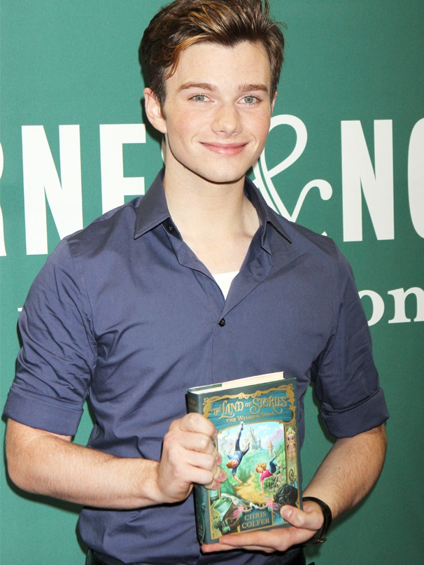 Glee Star Chris Colfer Visits NYC to Promote His First Book, The Land of Stories: The Wishing Spell