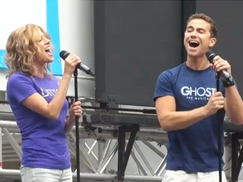 Summer Swoon! Ghost Stars Caissie Levy, Richard Fleeshman & DaVine Joy Randolph Rock Bryant Park 