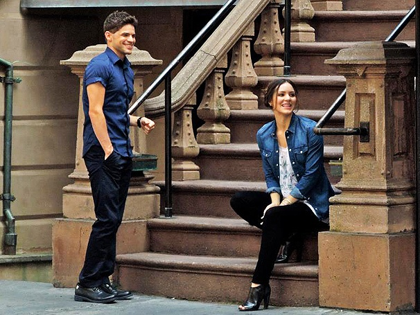 Get a First Look at Newsies' Jeremy Jordan and Katharine McPhee on the Steamy Set of Smash