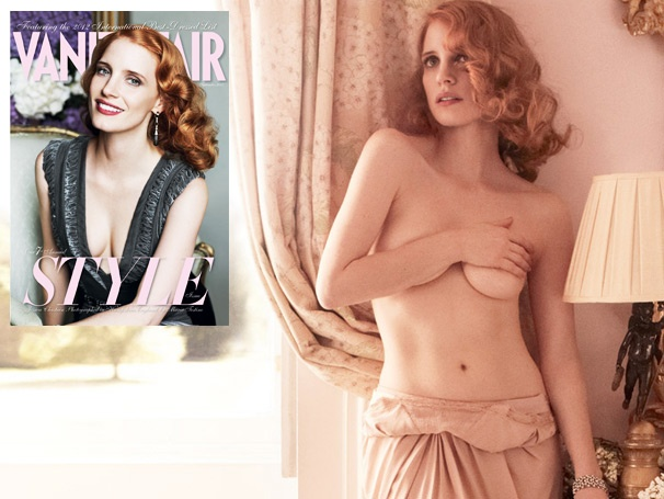 A 'Terrified' and Topless Jessica Chastain Chats About The Heiress in Vanity Fair