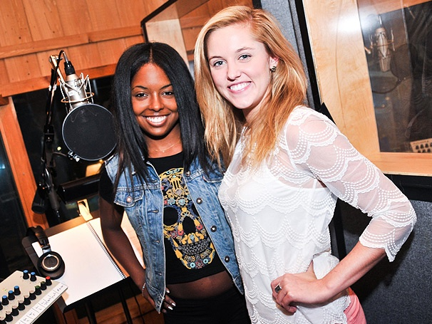 Photo Exclusive! Inside the Recording Studio with Lin-Manuel Miranda, Tom Kitt and the Cast of Broadway's Bring It On